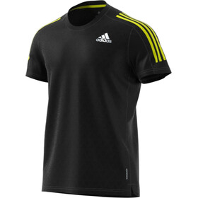 adidas OWN The Run SS Tee Men black/black/acid yellow